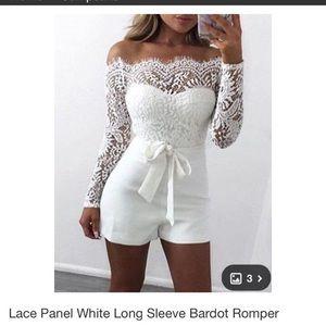 NEW White Lace Romper